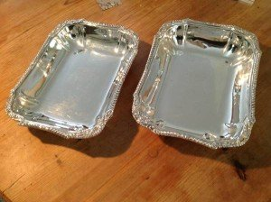 silver table trays