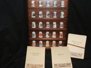 25 collectible thimbles
