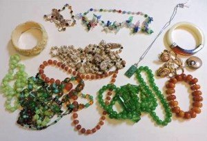 various costume jewellery