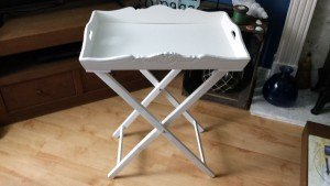 butlers tray with stand