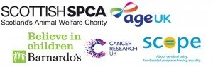 Just a few of the charities we support.