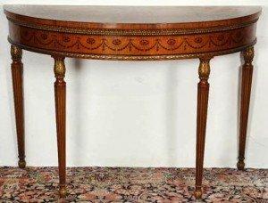 gilt console table