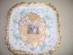 Limoges square porcelain charger