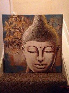 canvas of a buddha