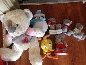 seven teddy bears