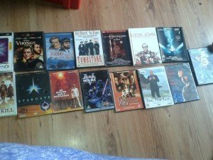 collection of 15 dvds