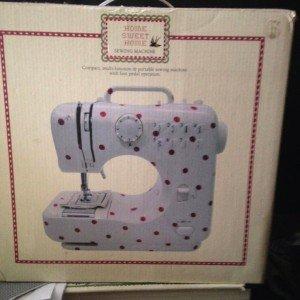 sewing machine in box