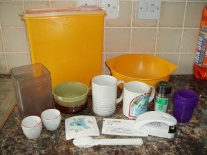 collection of kitchen goods