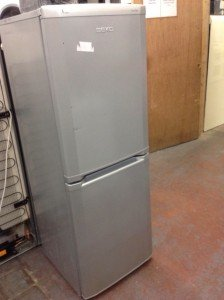 Silver Beko Fridge Freezer.