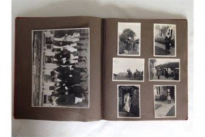 A vintage photograph album c1920-30s containing photographs of Equestrian sport & military. Includes horse racing & hunting examples.