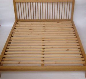 Habitat light oak Kingsize double bed.