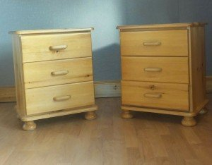 three set drawers