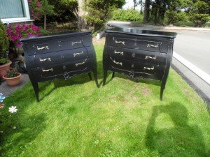 painted black drawers