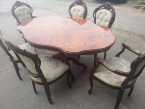 Italian vintage wooden table