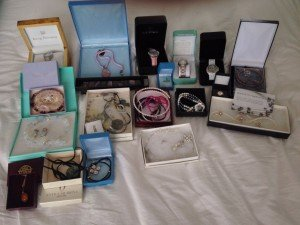 variety of branded boxed jewellery