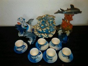dolphin porcelain home accessories