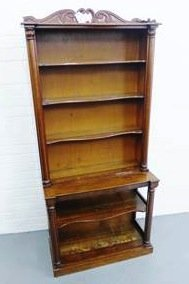 two part bookcase