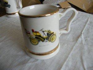 pottery car tankard