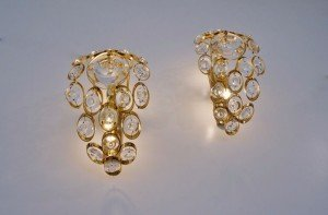 gold gilt wall sconces