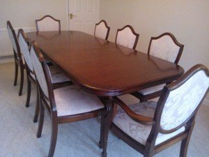 grand solid mahogany dining table
