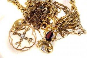 yellow metal jewellery