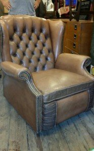 Chesterfield recliner armchair