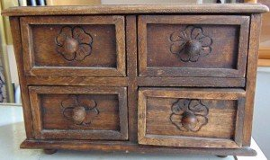 carved spice chest
