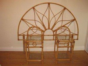 bamboo/ cane circular headboard