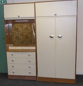 vintage double wardrobe set