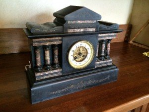 French movement ornate mantle clock