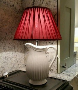jug shaped base lamp