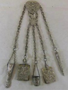 plated chatelaine