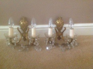 French gilt wall sconces