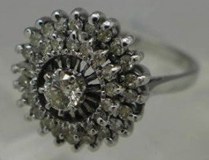 ladies cluster ring