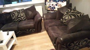 2 two seater sofas