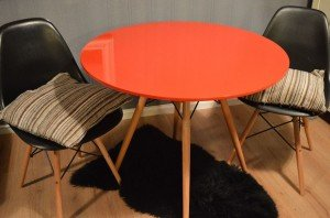 orange bistro dining table