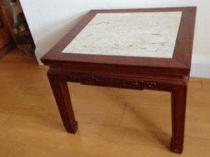 mahogany square coffee table