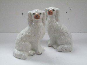 collectible Staffordshire dogs