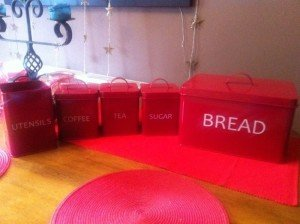 red kitchen goods