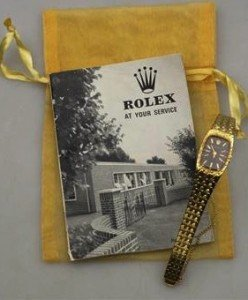 gold Rolex wristwatch