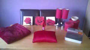 red bedroom accessories