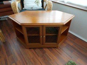 wood television unit