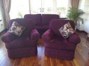 hree piece sofa suite