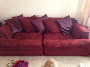 two seater low sofa
