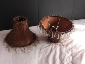 brown lampshades