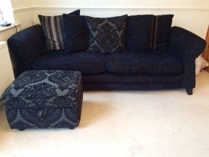 two seater low down sofa