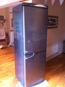 slim fridge freezer