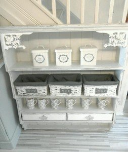 hand painted wall unit