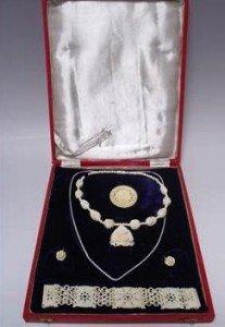 suite of ivory jewellery