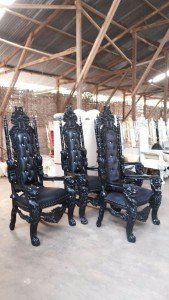 black gothic throne chairs